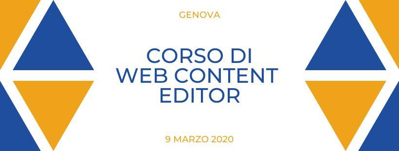 corso di web content editor